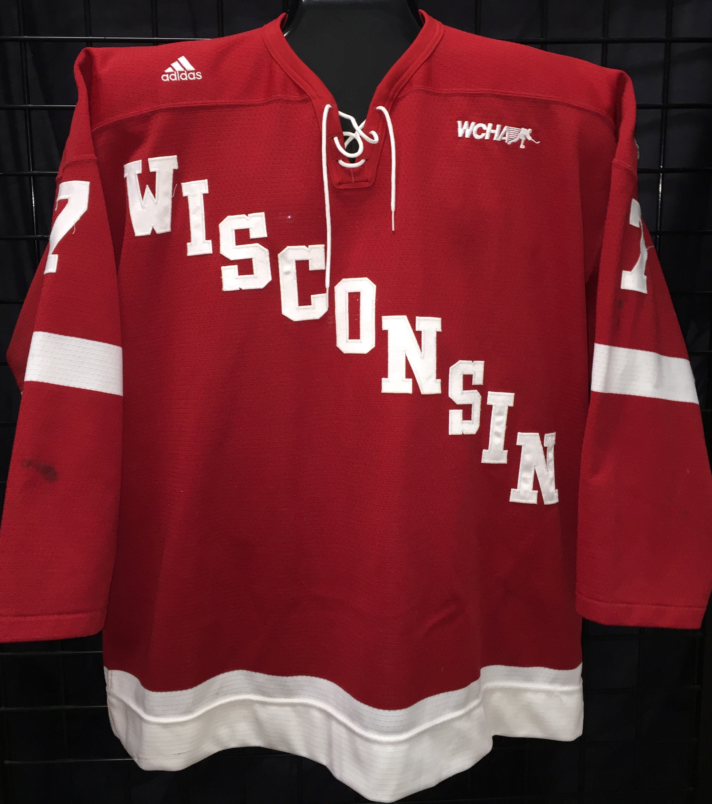 GVJerseys - Game Worn Hockey Jersey Collection - University of Wisconsin af55bc1a50c