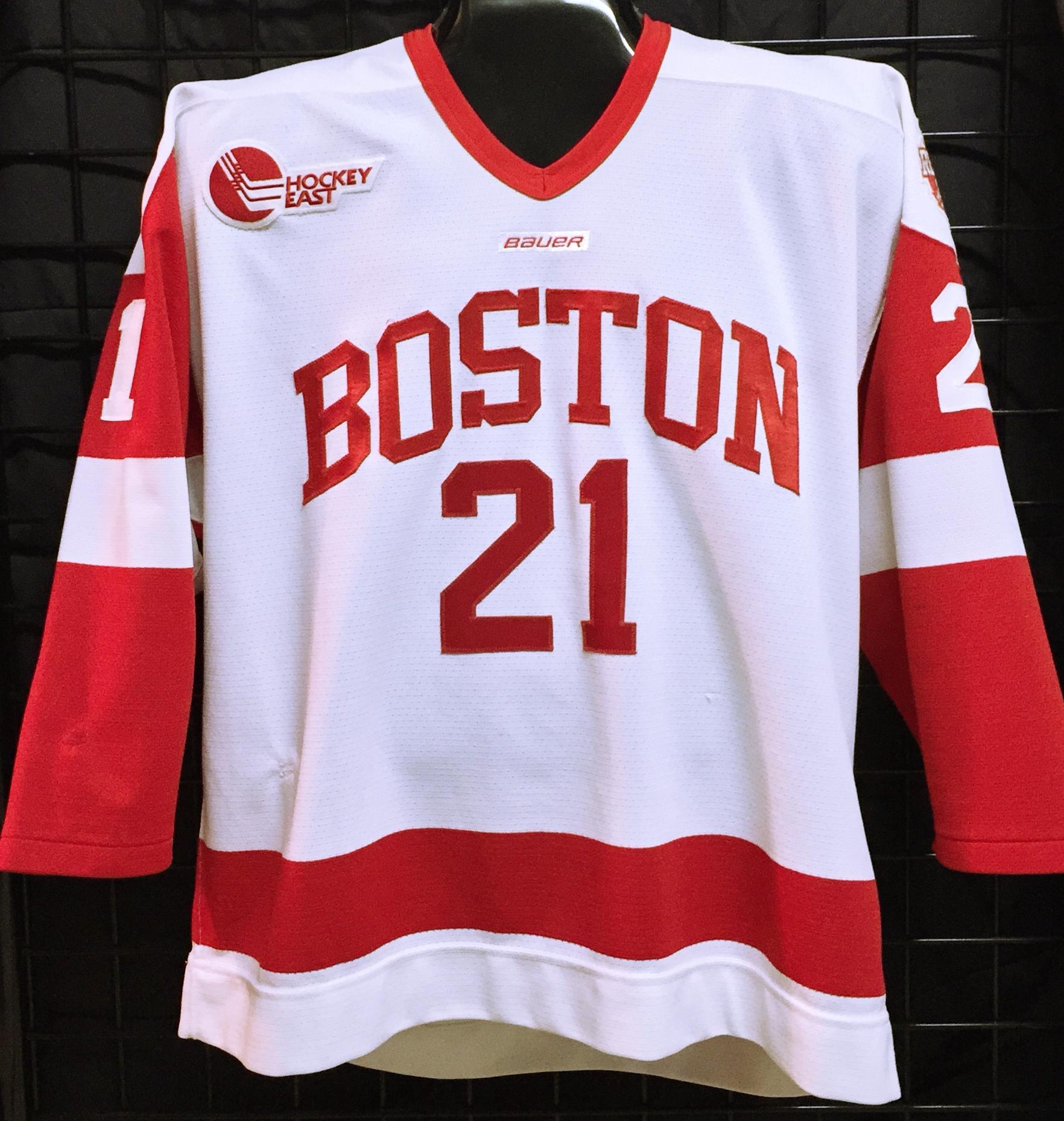 best service 13625 3c863 Sean Escobedo - Boston University - Game Used/Worn Jerseys ...