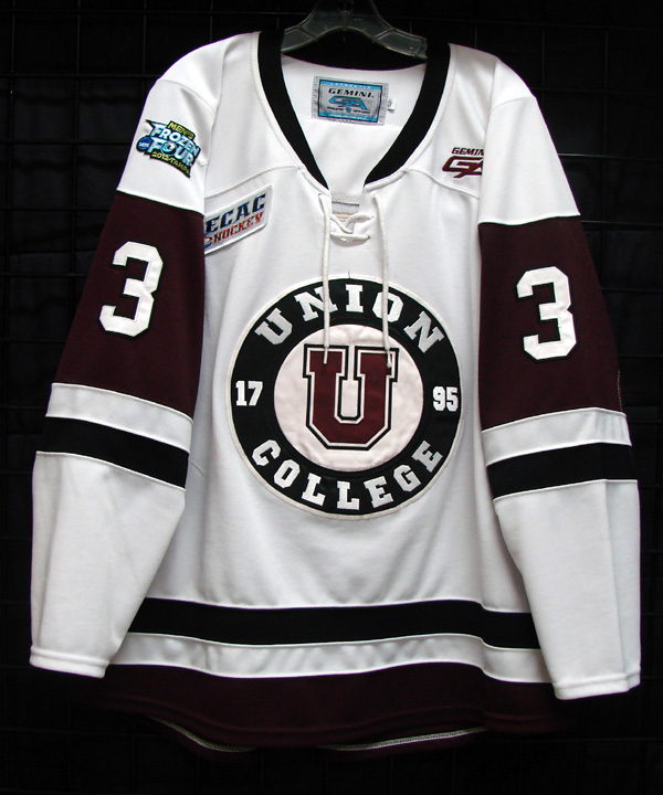 Description  11 12 game worn Union College Frozen Four hockey jersey for  sale or trade 5ecb1f705dc