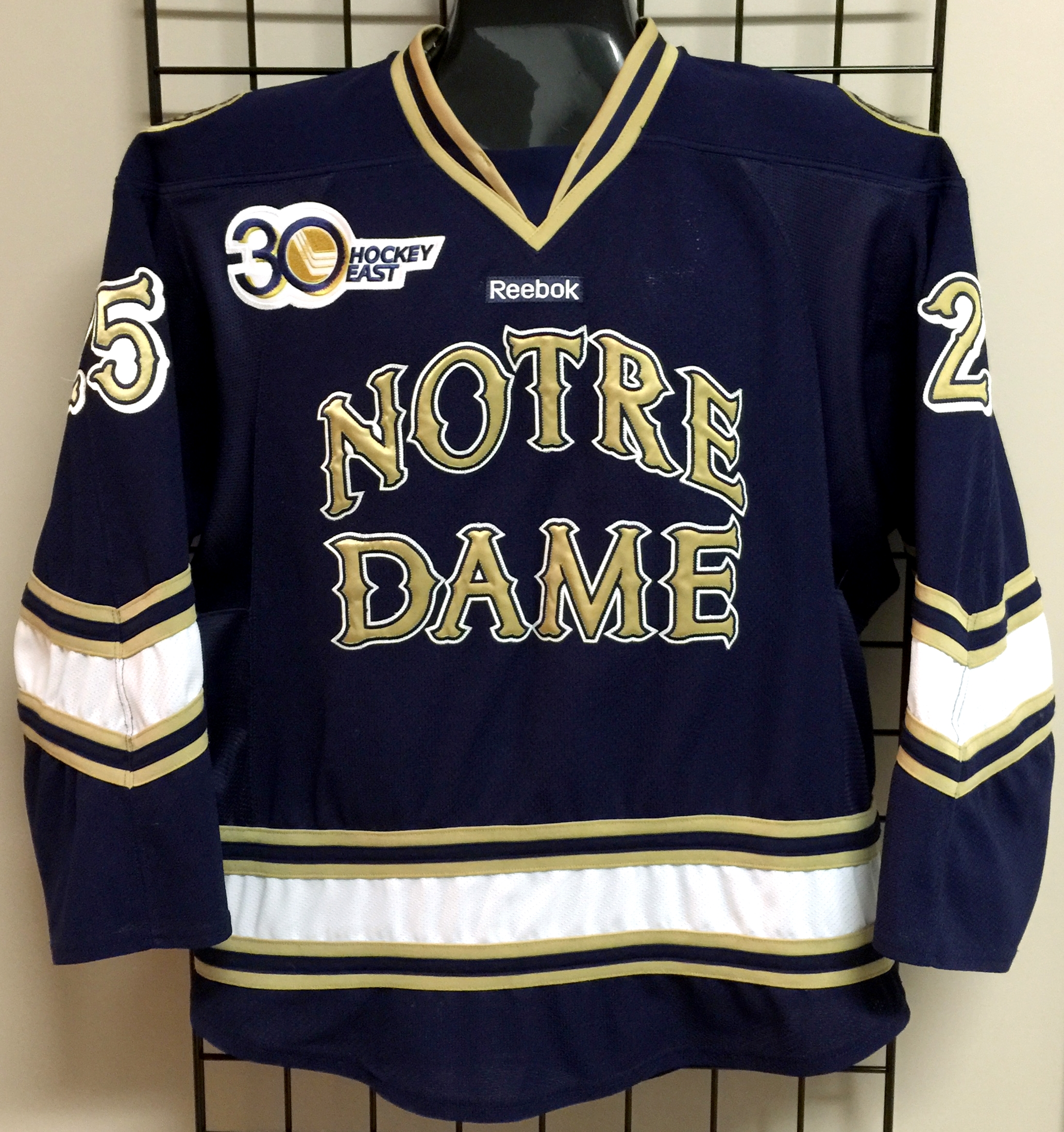 best sneakers c3c79 27470 GVJerseys - Game Worn Hockey Jersey Collection - Notre Dame