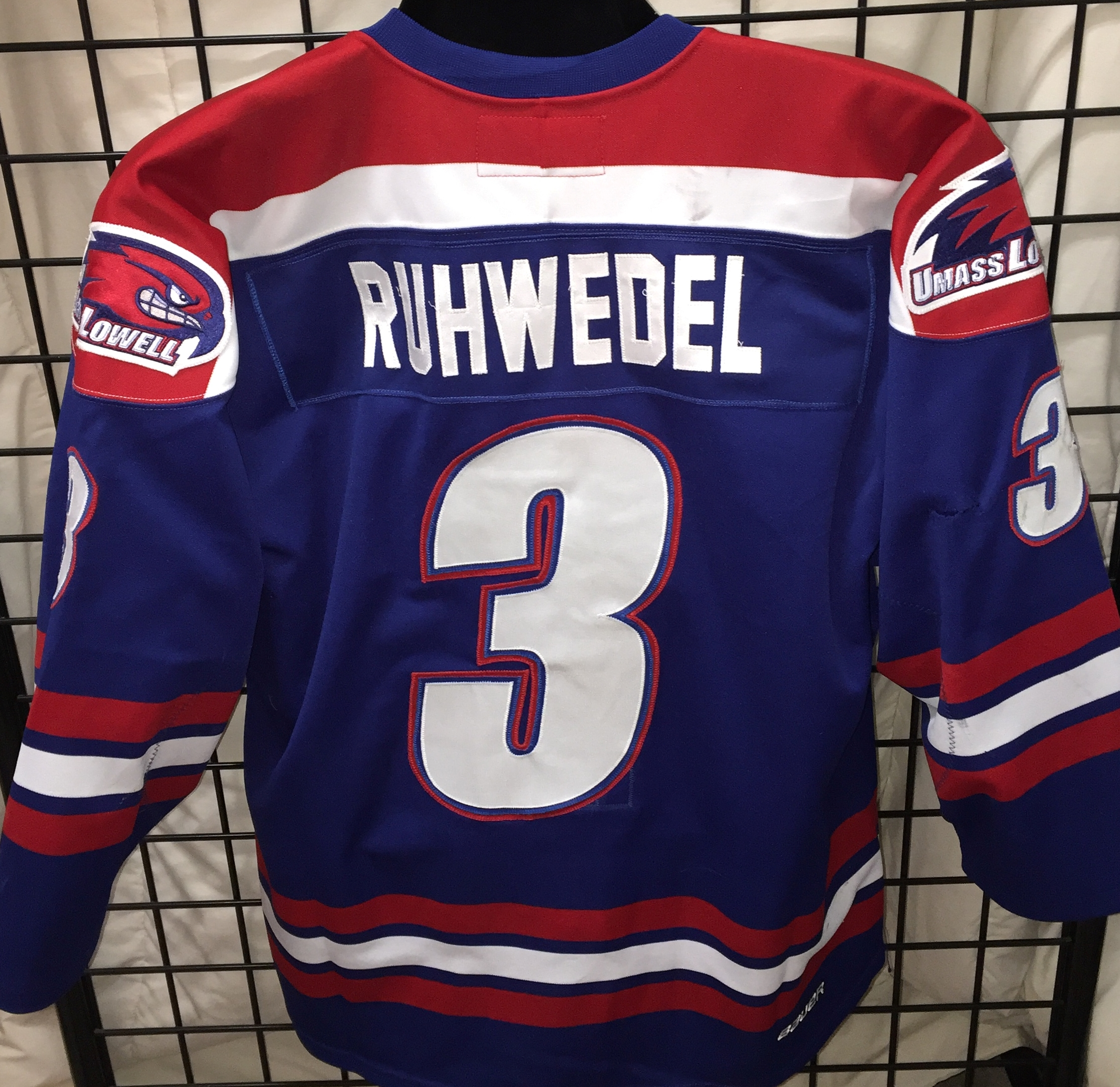 huge selection of 5e39d 7ca75 Chad Ruhwedel - UMass Lowell - Game Used/Worn Jerseys - GV ...