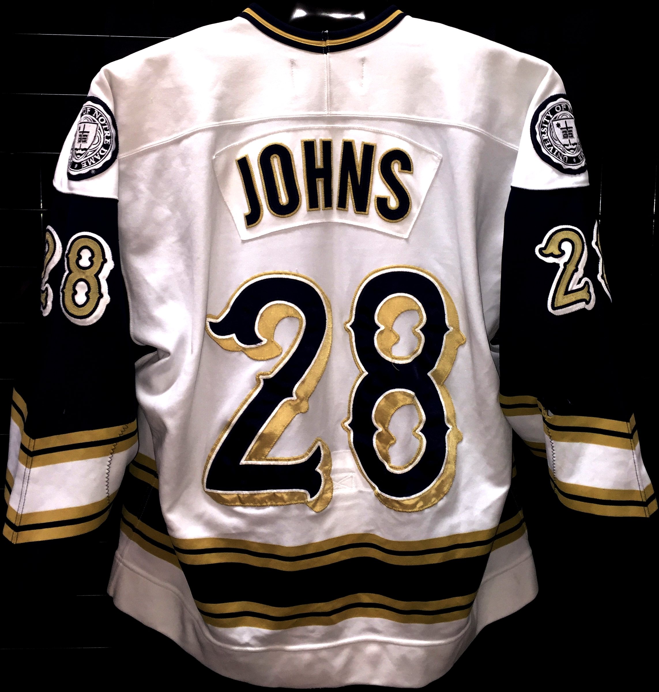 best service 4e878 6ecb0 Stephen Johns - Notre Dame - Game Used/Worn Jerseys - GV Jerseys