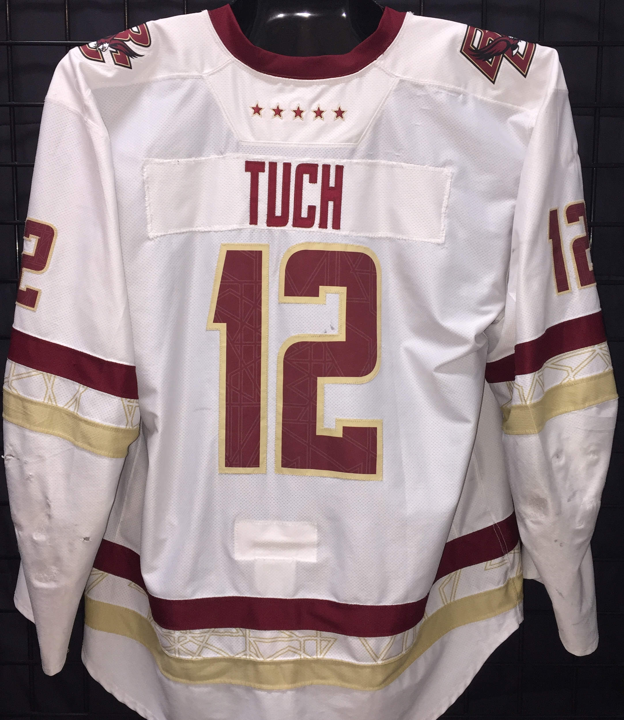 new style af2d6 bb57d Alex Tuch - Boston College - Game Used/Worn Jerseys - GV Jerseys